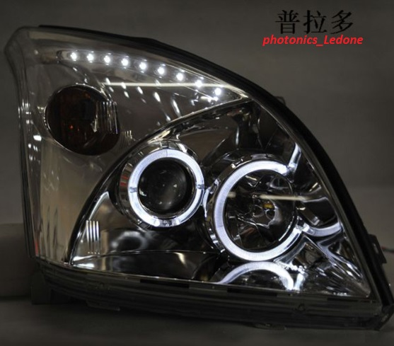 TOYOTA Prado Head Lamp Angel Eyes 07