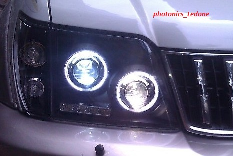 TOYOTA Prado Head Lamp Angel Eyes 98 to 03